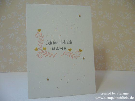 """Muttertagskarte mit dem Stempelset """"Auf den ersten Blick"""""""
