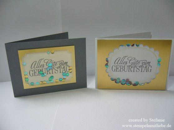 Geburtstagskarten mit Project Life SAB Zubehörpaket / Shakercard