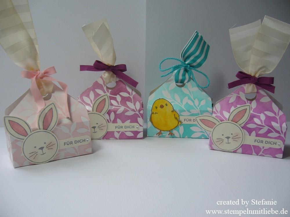 Kleine Osterkörbchen mit dem Envelope Punchboard