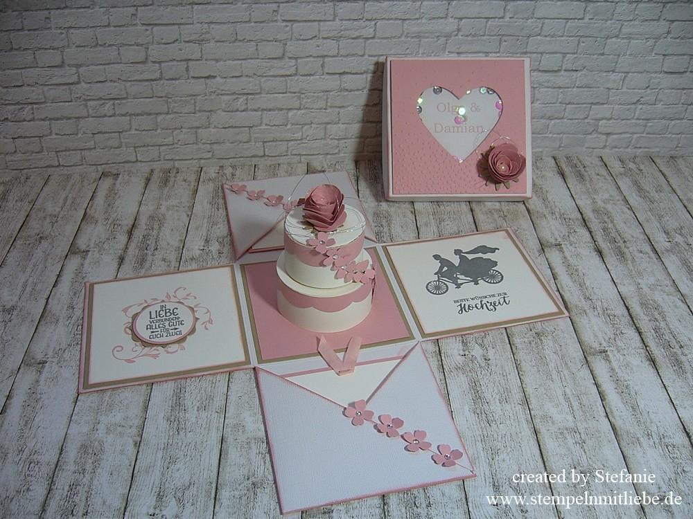 Explosionsbox zur Hochzeit