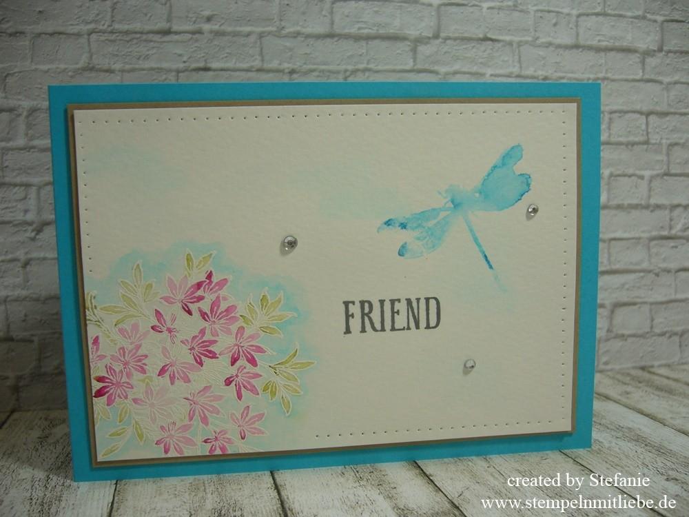 Freundschaftskarte mit Awesomely Artistic inkl. kleiner Anleitung