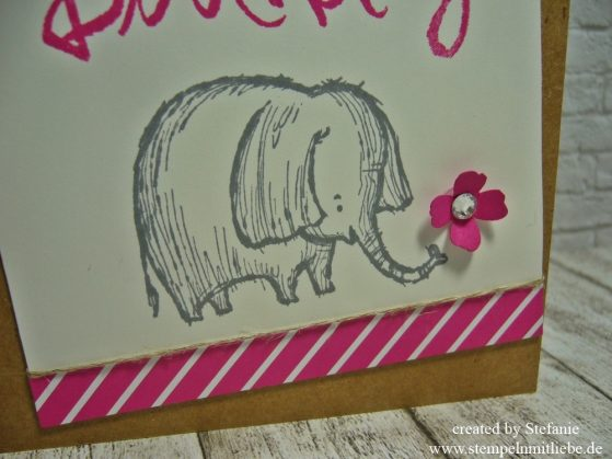 Geburtstagskarte in Wassermelone