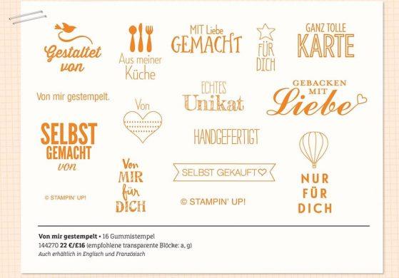"""Stampin' Up! Neues Stempelset """"Von mir gestempelt"""""""