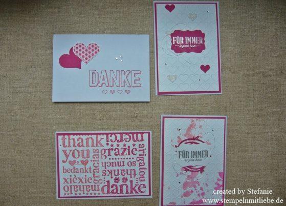 Einladungskarten & Dankeskarten zur Hochzeit / Ideen in Wassermelone