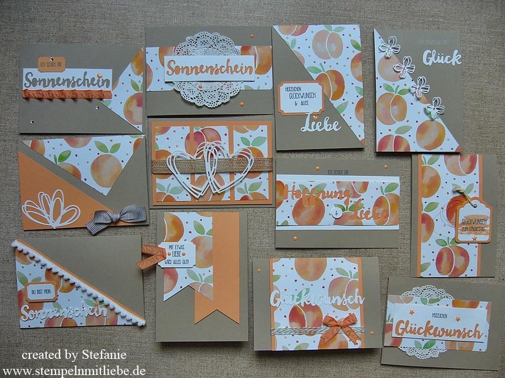 One Sheet Wonder Obstgarten – 12 Karten aus einem Designpapier