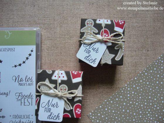 Weihnachtsverpackung Nür für Dich inkl. kleiner Anleitung