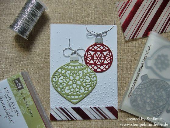 Noch ein einziges Mal geCASEte Weihnachtskarte :)