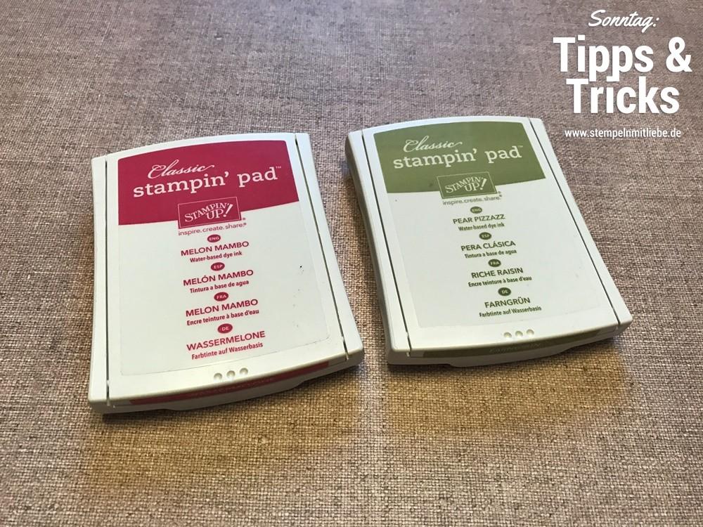 Sonntag: Tipps & Tricks Stempelkissen lagern & wie zu öffnen