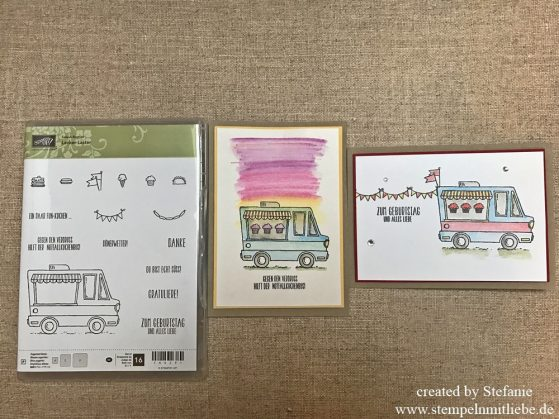 2 Kartenideen mit dem Lecker-Laster (Sale-a-Bration)