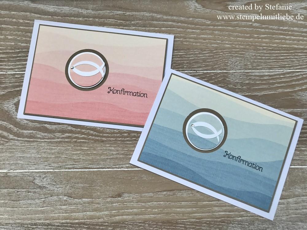 simple karten zur konfirmation und kommunion stampin 39 up stempeln mit liebe. Black Bedroom Furniture Sets. Home Design Ideas