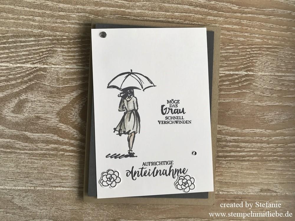 Simple Trauerkarte mit dem Stempelset Mit Stil