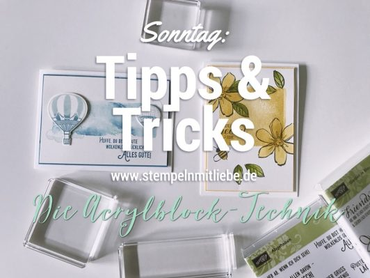 Sonntag: Tipps & Tricks Die Acrylblock Technik inkl. Video
