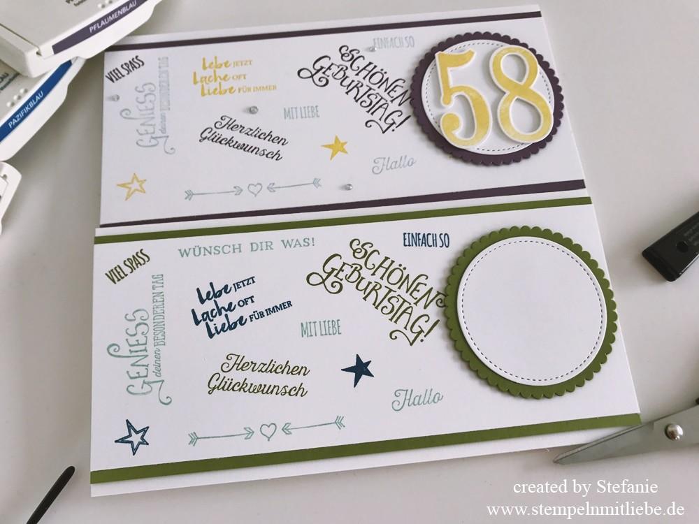Längliche Geburtstagskarte für Männer & Frauen | Stampin\' Up ...