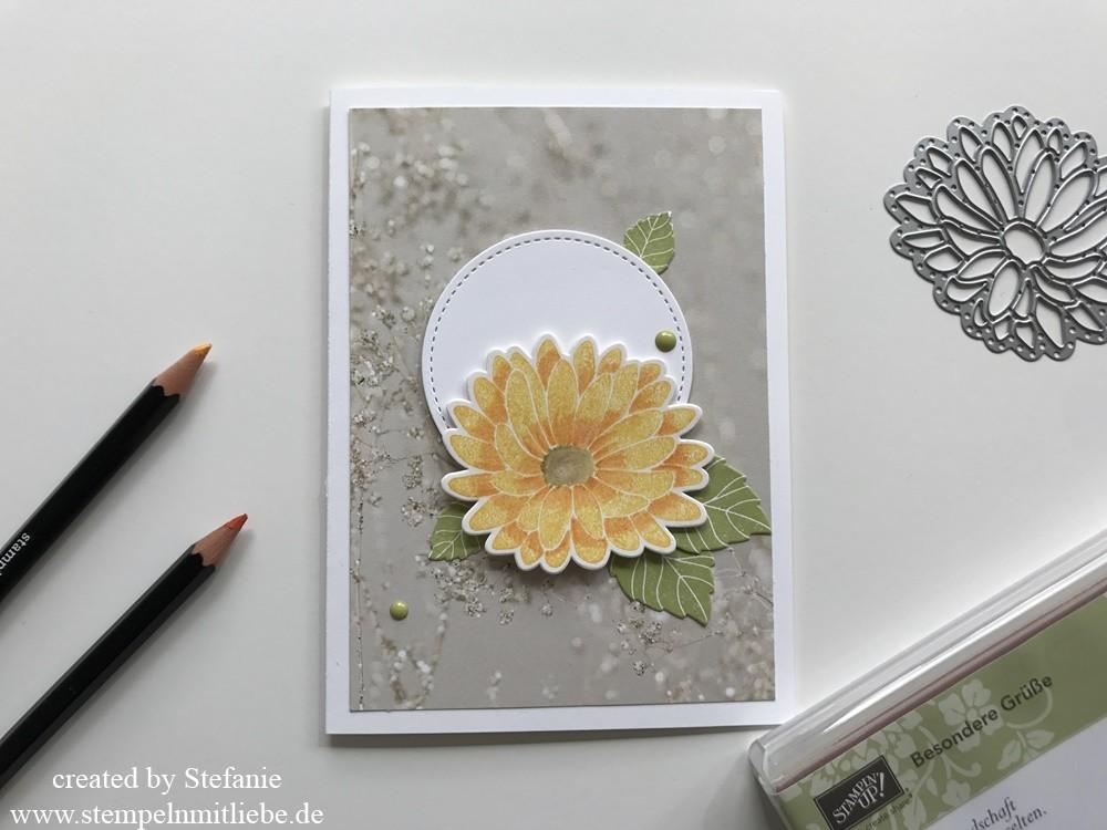 Frühlingskarte mit dem Stempelset Besonders Grüße