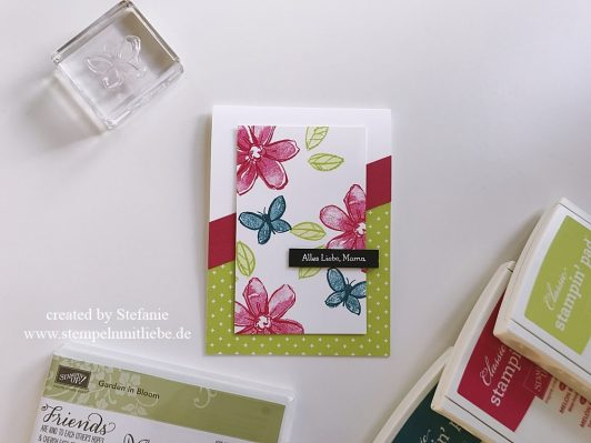 Global Design Project GDO#086: Muttertagskarte mit dem Stempelset Garden in Bloom