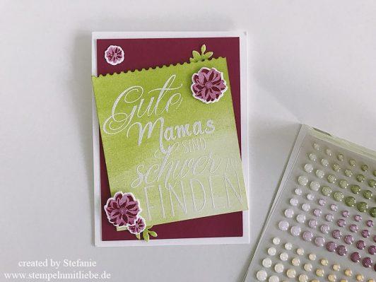 Muttertagskarte mit dem Produktpaket Für Freunde
