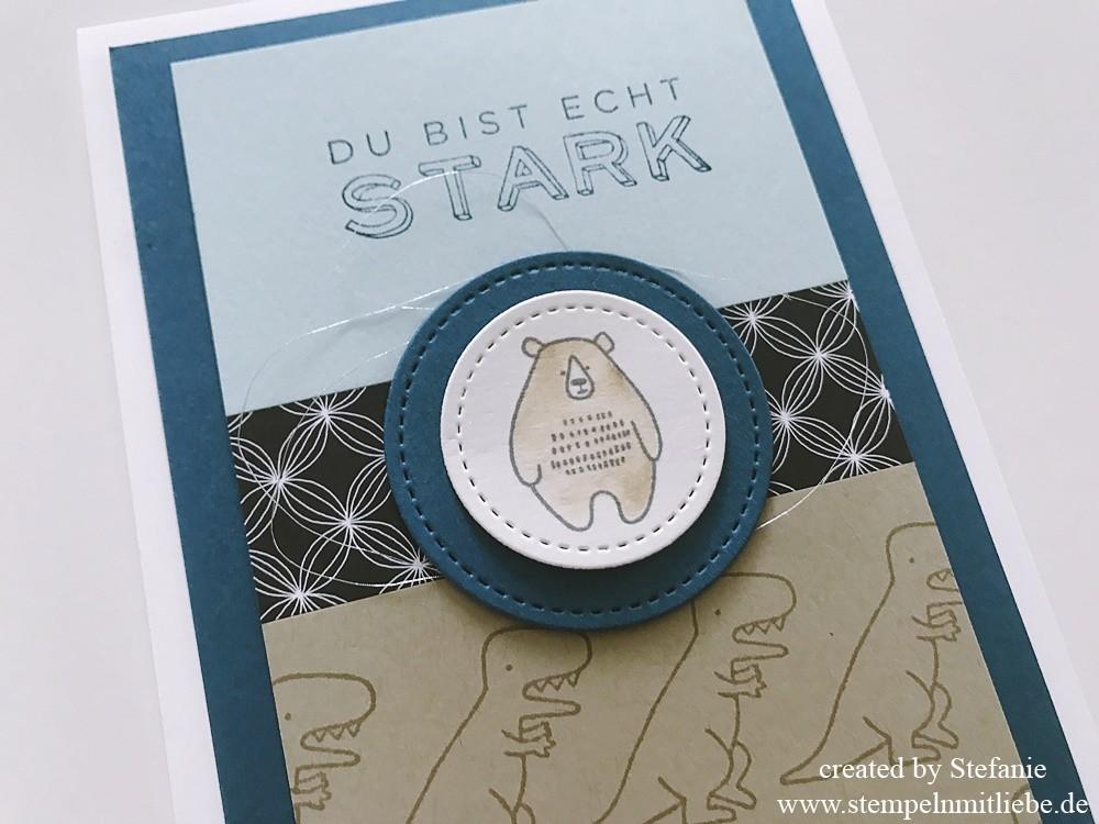 Dinos und Bären in Jeansblau_3_stempelnmitliebe