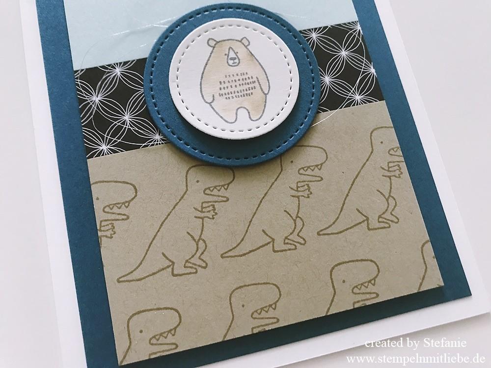 Dinos und Bären in Jeansblau_2_stempelnmitliebe