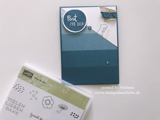 Post für Dich in Jeansblau mit dem Set Dies & Das