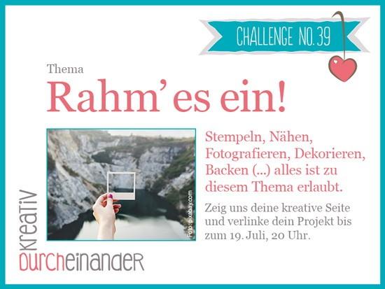 Challenge Nr. 39 von kreativ durcheinander Rahm'esein Stampin Up - Stempeln mit Liebe 01
