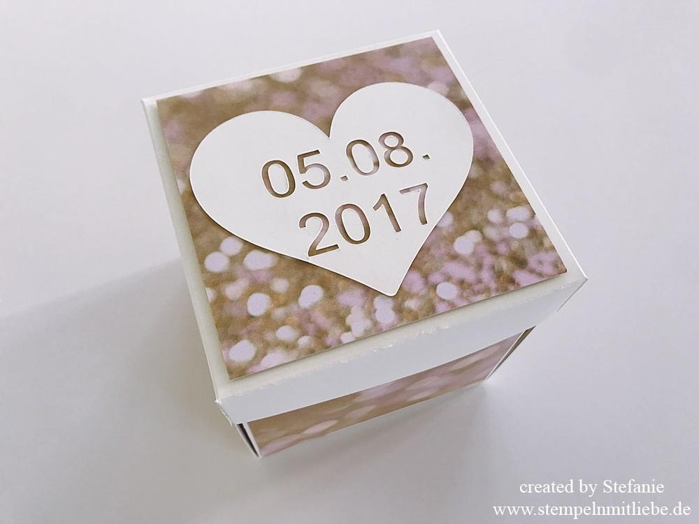 Explosionsbox zur Hochzeit - Stampin Up 01