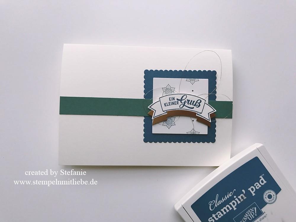 Grußkarte in Kupfer - Orientpalast - stempelnmitliebe 01