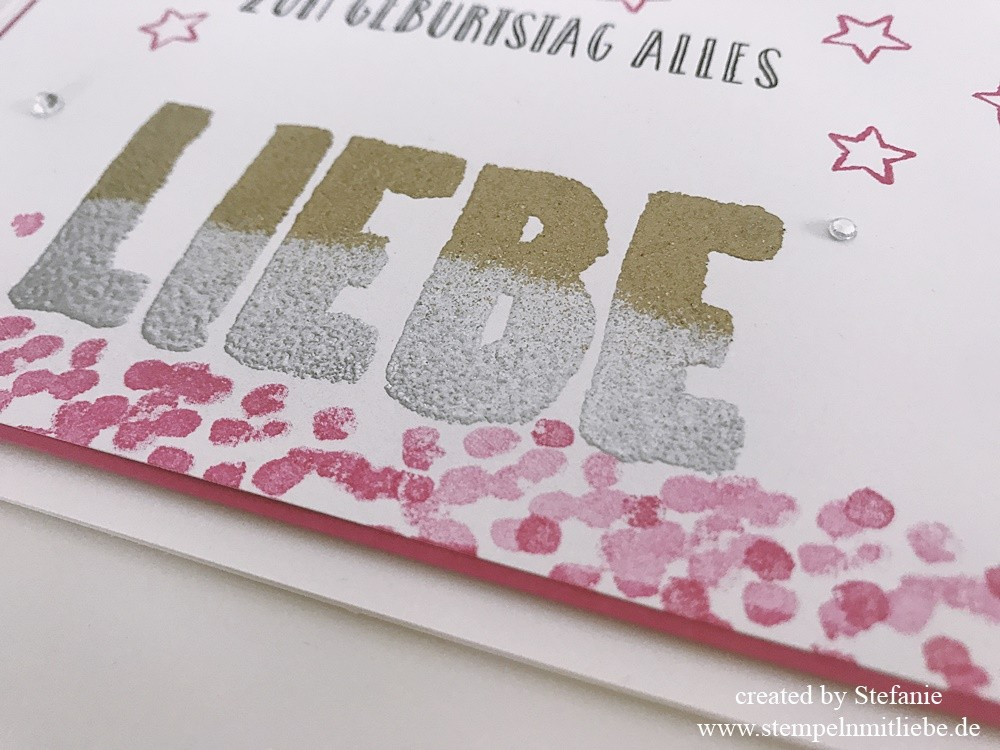 Doppel Embossing Stempeltechnik ~ Stampin Up Stempelnmitliebe 01