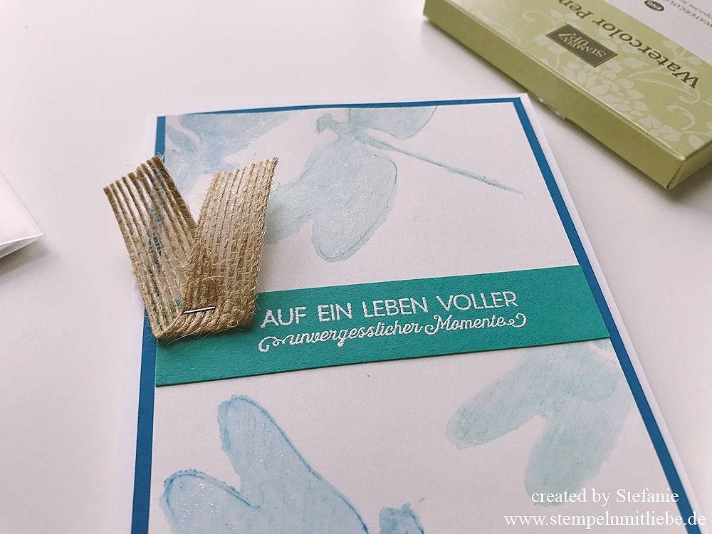 Liebelleien Karte in Aquarelltechnik 01