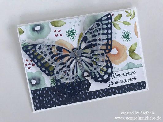 Schnelle Schmetterling-Geburtstagskarte