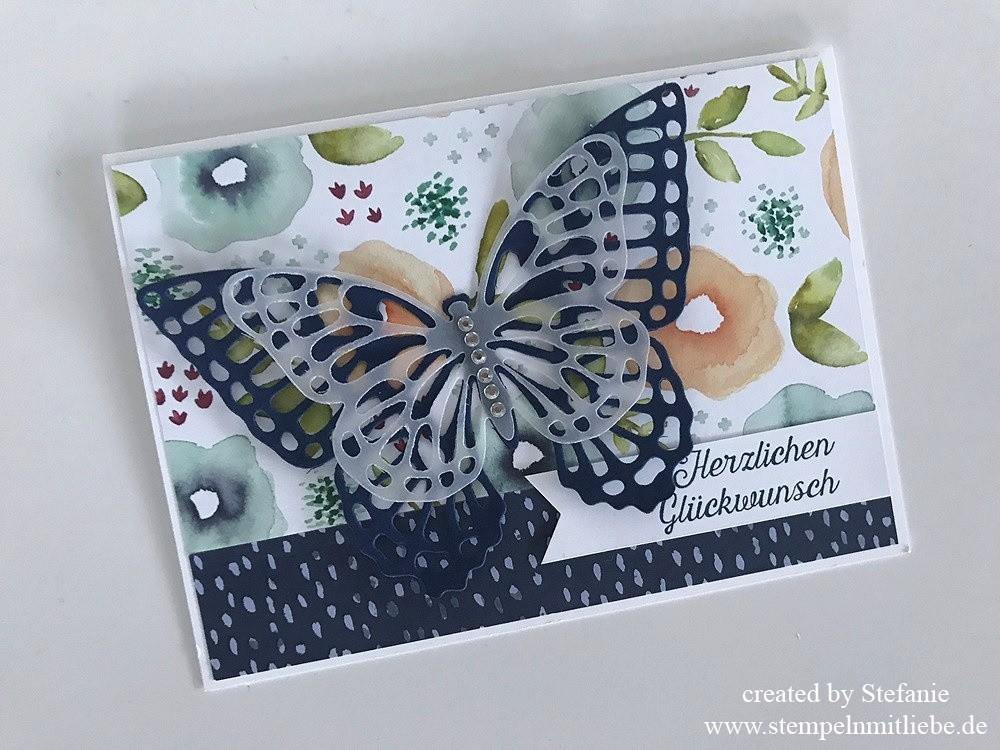 Schnelle Schmetterling-Geburtstagskarte 02