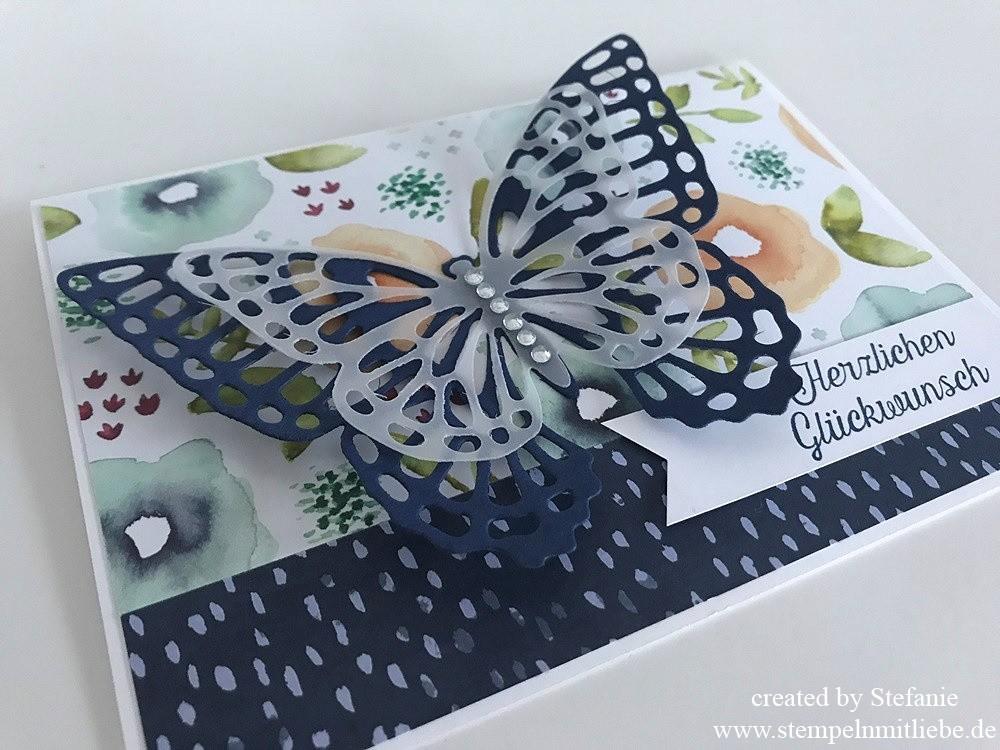 Schnelle Schmetterlings-Geburtstagskarte 01