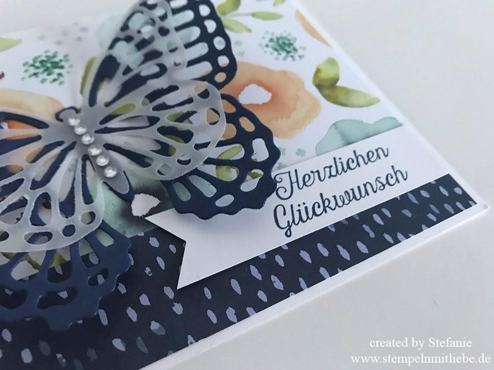 Schnelle Schmetterlings-Geburtstagskarte 02
