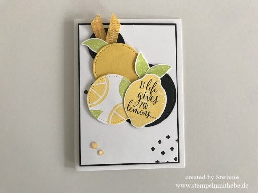 Erfrischende Karte mit dem Stempelset Lemon Zest