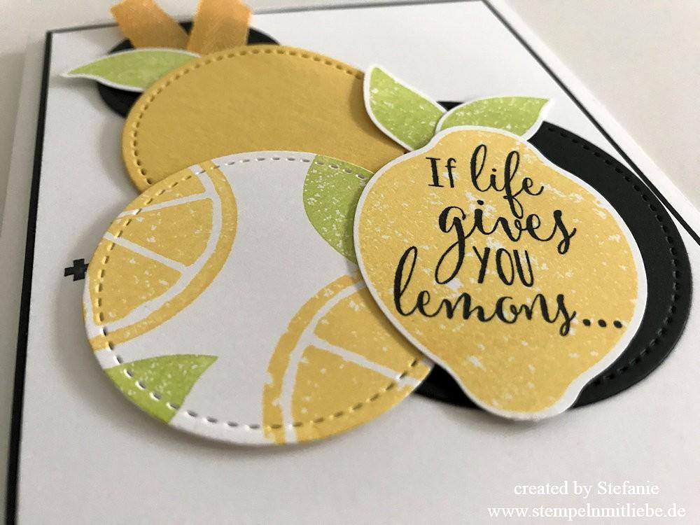 Erfrischende Karte mit dem Stempelset Lemon Zest 03