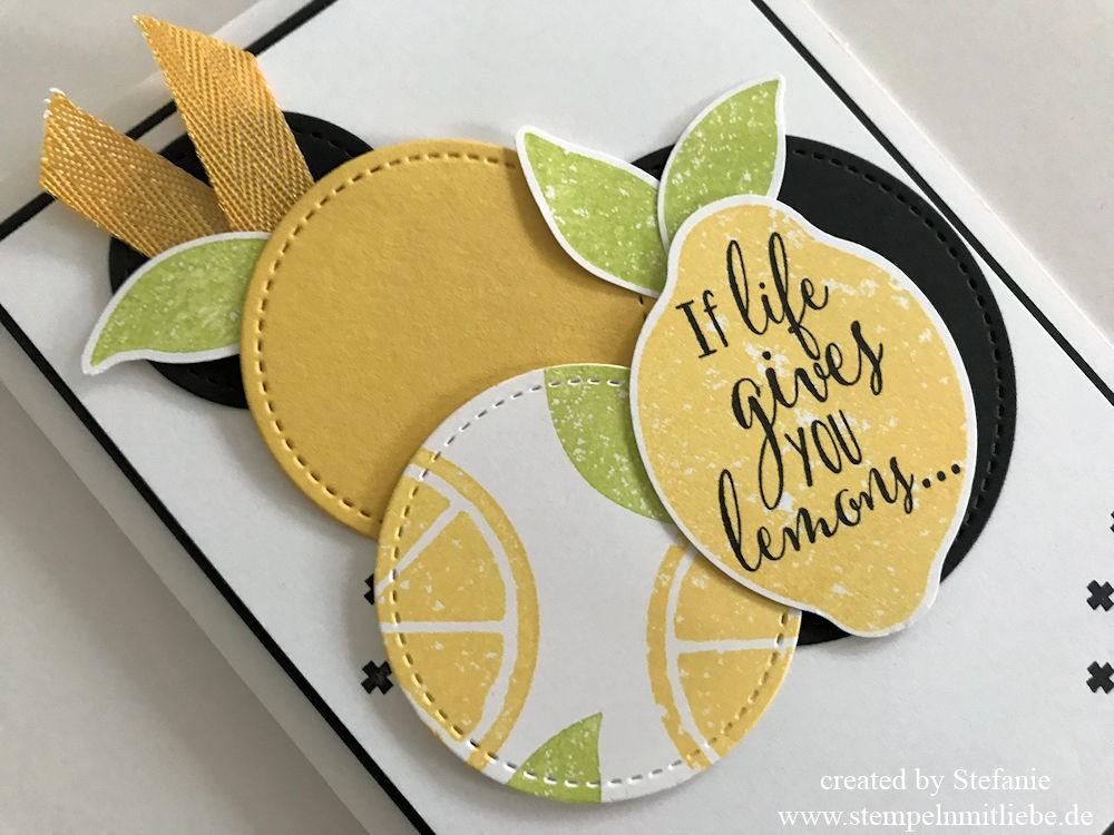 Erfrischende Karte mit dem Stempelset Lemon Zest 04