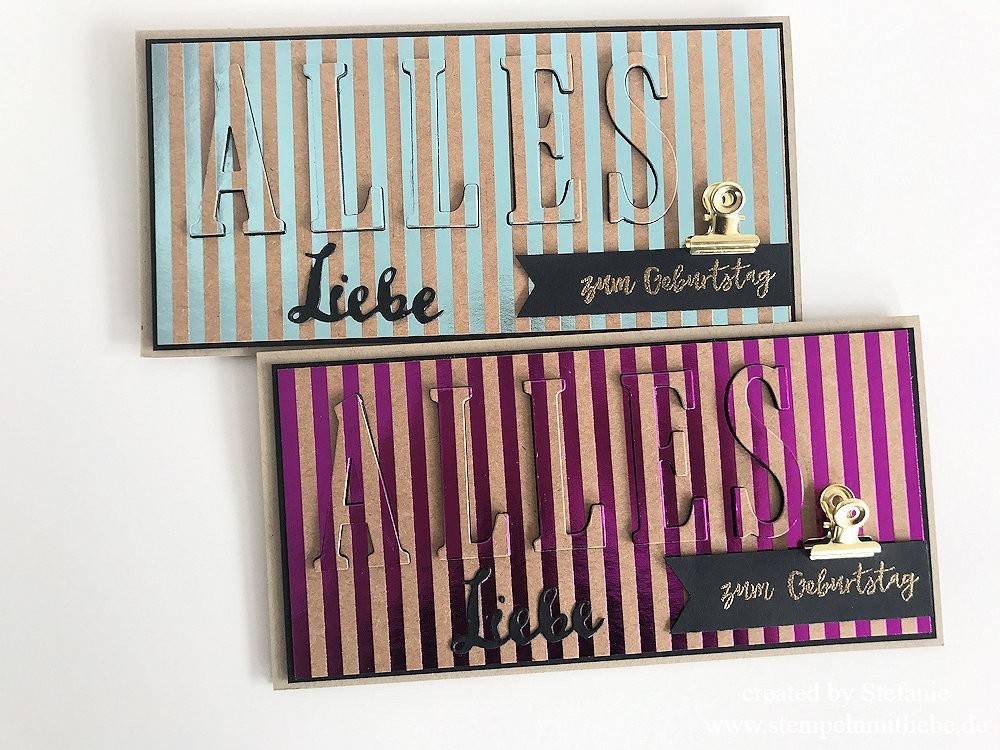 Floating Letters Technik Stampin Up 05