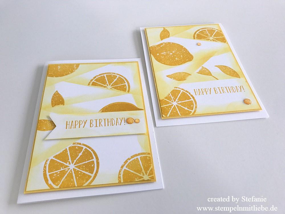 Retiform Technik mit dem Stempelset Lemon Zest 08