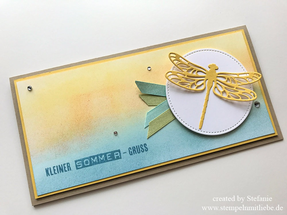 Sommergrusskarte und Lesezeichen Stampin Up Kaarst 01