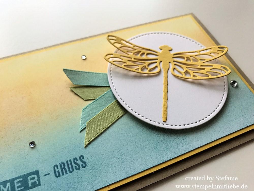 Sommergrusskarte und Lesezeichen Stampin Up Kaarst 02