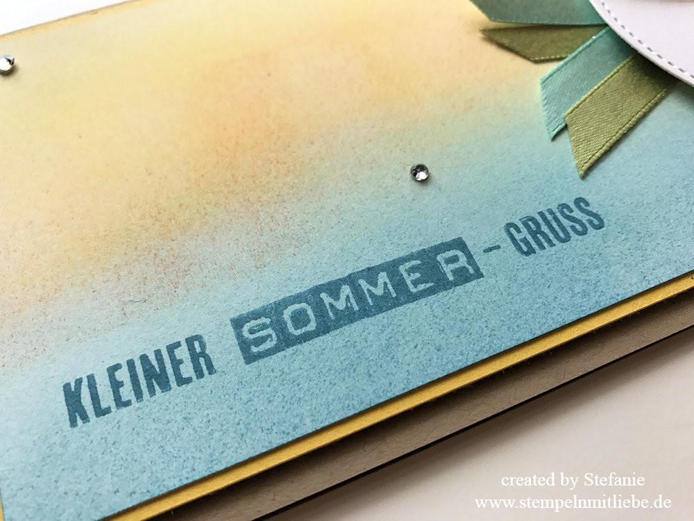 Sommergrusskarte und Lesezeichen Stampin Up Kaarst 03