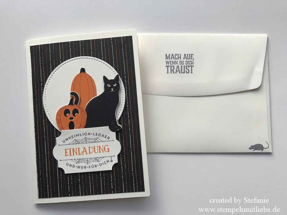 Einladungskarten zur Halloweenparty