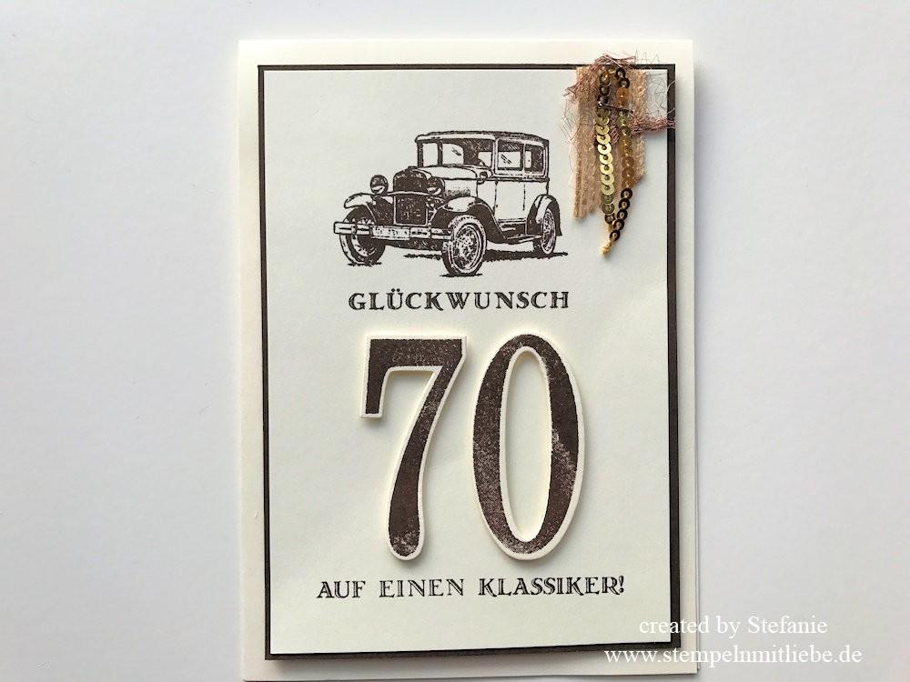 Männer-Geburtstagskarte mit Oldtimer Kaarst 01