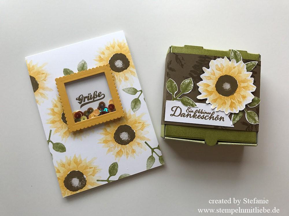 Herbstliche Karte & Mini-Pizzaschachtel Stampin Up Kaarst 06