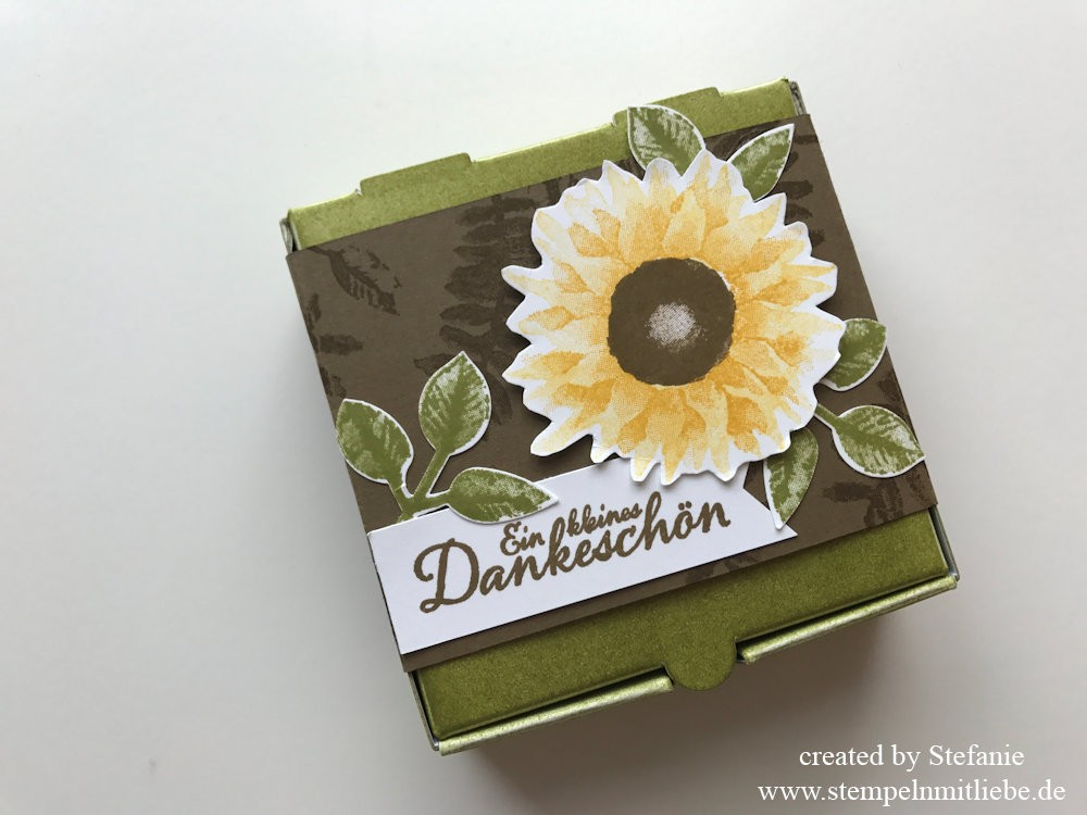 Herbstliche Karte & Mini-Pizzaschachtel Stampin Up Kaarst 04