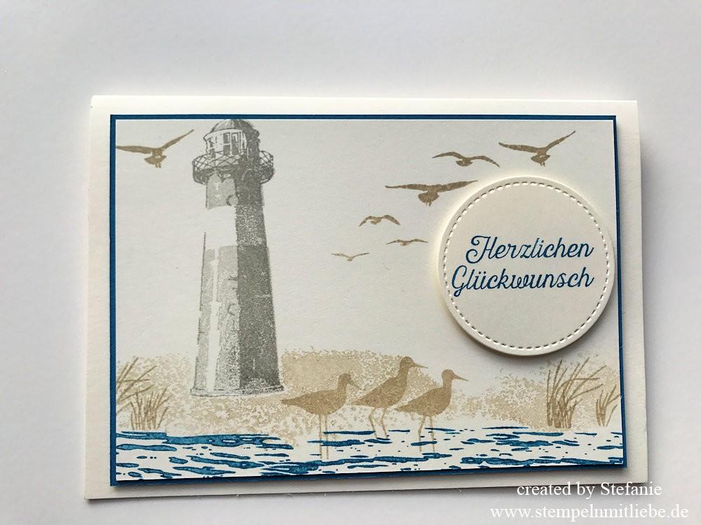 Meereskarte mit Leuchtturm zum Geburtstag Kaarst 01
