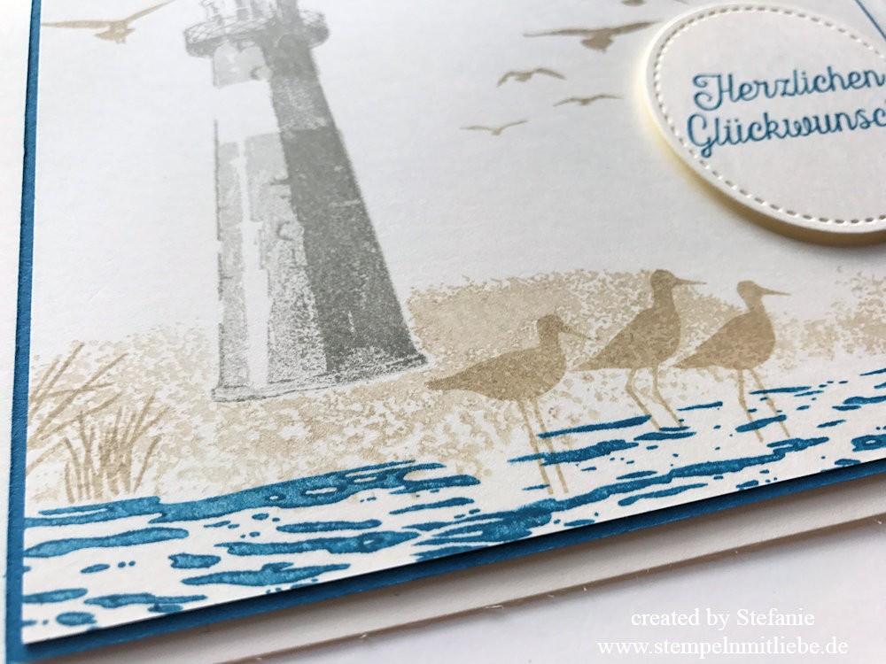 Meereskarte mit Leuchtturm zum Geburtstag Kaarst 02