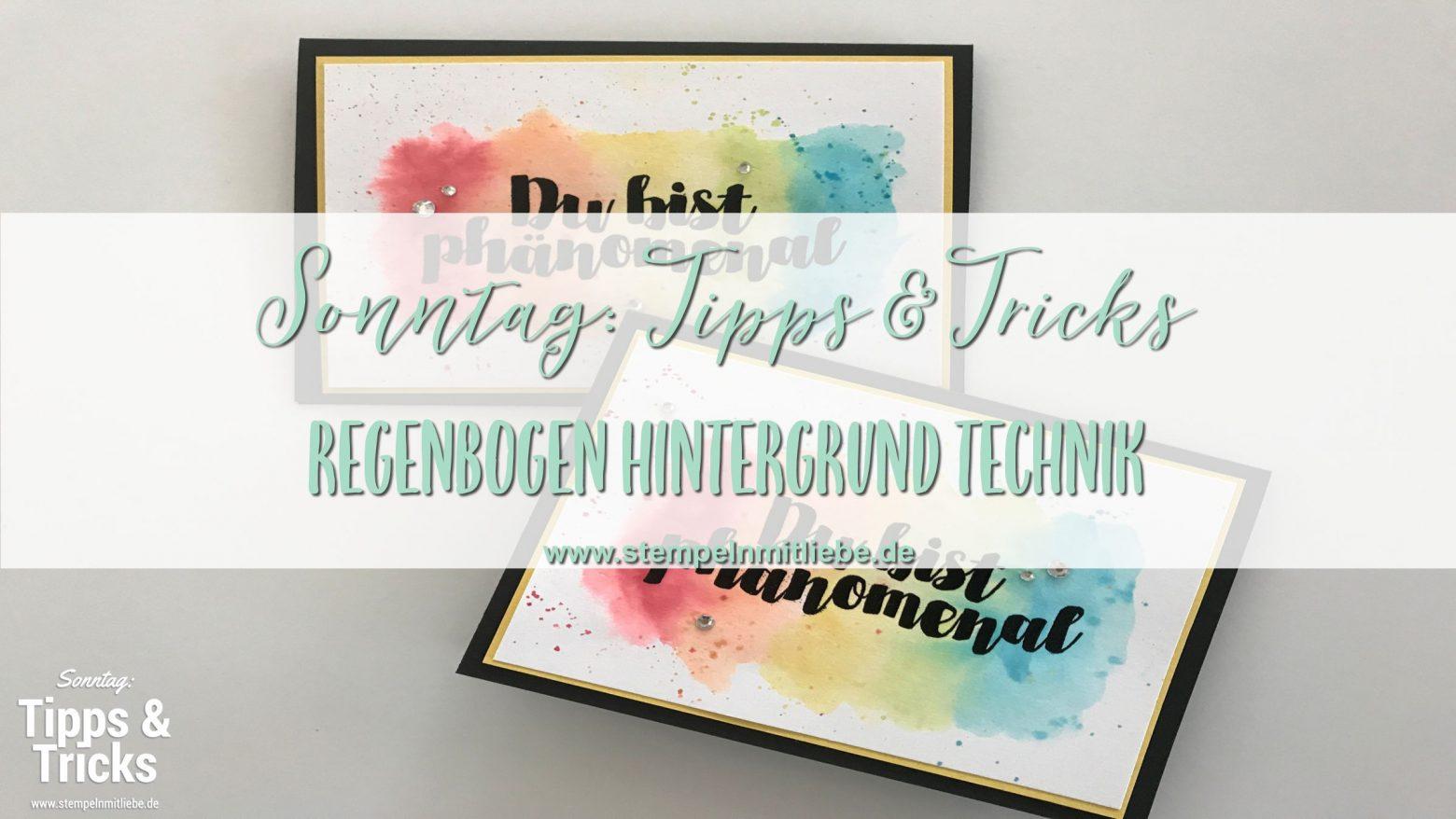 Sonntag: Tipps & Tricks Regenbogen Hintergrund Technik