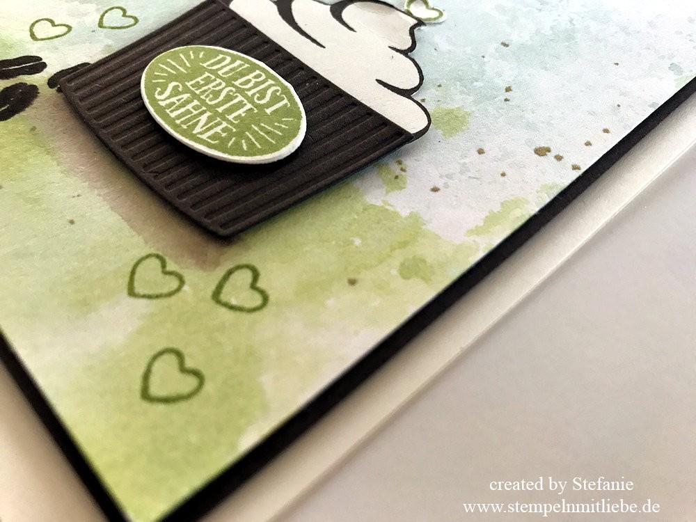 Sahnemuffin mit Aquarellhintergrund - Stampin Up - Stempeln mit Liebe 05