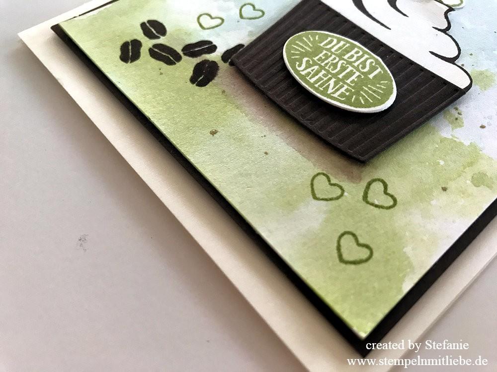 Sahnemuffin mit Aquarellhintergrund - Stampin Up - Stempeln mit Liebe 04