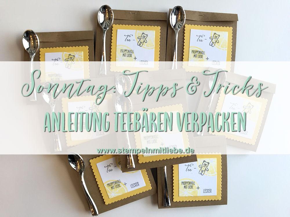 Sonntag: Tipps & Tricks Anleitung für eine Teebären-Verpackung
